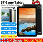 """10.1"""" Inch Tablet Pc Hd Android 10.0 8+128gb Wifi Dual Sim Camera Gps Phablet Uk"""