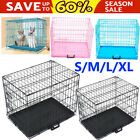 Pet Dog Cage Crate Foldable Carry Transport Carrier  Small Medium Large XL XXL