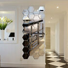 2pcs Decal Mirror Wall Stickers Hexagonal Diy 3d Home Accessories Room Decor