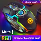 🎂wireless Mouse Gaming Silent Laser Optical 2.4ghz Game Usb Rechargeable Laptop