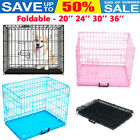 Cages Dog Cage Pet Puppy Crate Carrier Home Folding Door Training Kennel S M L