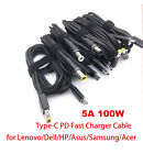USB C Type-C to Type-C PD Fast Charger Cable For Dell/HP/Samsung/Lenove matebook