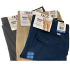 "IZOD Men's Saltwater 10.5"" Solid Washed Cargo Short"