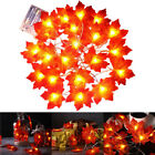 Charming Fairy Decor 30/40/80 LED Lamp Decorations Maple Leaves Light Artificial