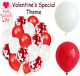 """VALENTINES DAY - Foil 18"""" BALLOONS - Heart/Round Shape 12"""" (Latex) Gift/Present"""