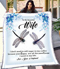 Customized Personalized To My Wife Blankets Valentine Wedding Anniversary Gifts