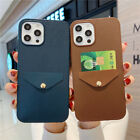 Pu Leather Wallet Card Slot Pocket Case Cover For Iphone 12 11 Pro Max Xs Xr 7 8