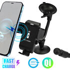 Qi Wireless Charging Dock Car Charger Stand Cell Phone Holder For iPhone Samsung