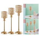 Crystal Iron Candle Holder Stand Party Home Offices Decoration Candlestick