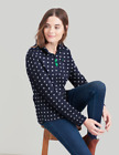Joules  Fairdale Print Ladies Sweatshirt   Colour  FRENCH NAVY  SPOT  UK10
