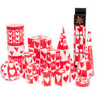 Kapula Fair Trade South African Love Heart Candles - ' Valentines Design '