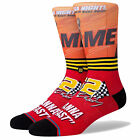 Stance Men's I Wanna Go Fast Crew Socks Red Footwear Active Casual Sports Goo...