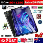 10.1 Inch Android10.0 8gb+128gb Hd Tablet Pc Wifi Bluetooth Gps Dual Camera Gift