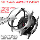 Matte Hard PC Case Screen Protectors Tempered Glass For HUAWEI Watch GT 2 46MM