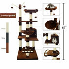 "67"" Cat Tree Scratching Condo Tower Furniture Scratch Post Pet House for Kitten"