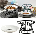 Elevated Feeder for Small Dog Cat Iron Bowl Stand Pet Food and Water Feeder