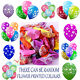 10-100 Flower balloons Style Party Supplies Printed Latex Birthday Rose Balloons