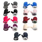 Mittens Lined with Fleece Easy-on Baby Warm Kid Winter Warm Gloves for Girl Boy