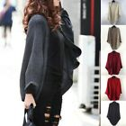 Cardigan Sweater Winter Batwing Sleeve Simple Loose Outwear Wool Spinning