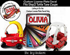 The Toy Restore Custom License Sticker Fits Step2 Tottle Tune Coupe Ride-on Car