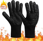 Внешний вид - 1 PAIR 1472℉ Extreme Heat Resistant Cooking Oven Gloves Silicone Grill BBQ Mitts