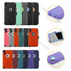 For iPhone Xs Max Defender Pro Shockproof Hard Shell Case w/Holster Belt Clip