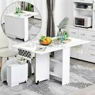 3 IN 1 Rolling Dining Table Set Kitchen Storage Trolley Room Breakfast  R A