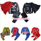 Kids Boys Superhero Cosplay Pajamas Sets Captain America Spider-Man Thor Outfits