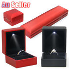 Ledlighted Jewelry Pendant Necklace Box Case Jewellery Display Gift Ring Storage