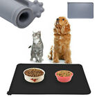 47x30cm Silicone Placemat Dog Puppy Cat Pet Feeding Cat Bowl Food Mat Wipe Clean