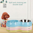 Food Anti Choking Dogs Cats Prevent Obesity Double Pet Bowl Puppy Slow Feeder