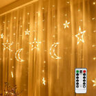 Christmas+Light+LED+Window+Curtain+Star+Moon+String+Fairy+Lights+with+Remote+NEW