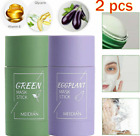2PCS Green Tea Purifying Clay Stick Mask Anti-Acne Deep cleansing Oil Control