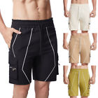 Mens Cargo Shorts Cotton Work Wear Casual Loose Fitness Sports Short Pants