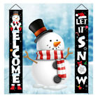 Merry Christmas Banner Flag Door Curtain Hanging Ornament Xmas Decoration