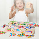 Wooden Puzzles Hand Grab Boards Jigsaw Baby Educational Toys Vehicle Animals 89