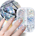 DIY Holographic Chunky Hexagon Glitter Flakes Summer Nail Sequins Star Moon