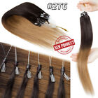 100% Remy Human Hair Extensions Micro Loop Nano Ring Bead Full Head 150g THICK S