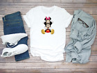 Minnie Mouse and Mickey Mouse Funny Short Sleeve White Men's T Shirt...