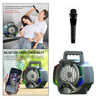 Portable Disco Bluetooth 5.0 Speaker Rechargeable w/Microphone Powerful