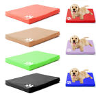 Faux Leather Dog Bed Waterproof Heavy Duty Kennel Pet Pad Mats Removable Cover