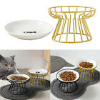 Ceramic Cat Raised Bowls Raised Food W / Iron Stand For Small