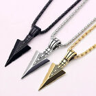 Stainless Steel Arrowhead Pendant Chain Necklace Spearpoint Necklace Men
