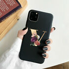Letter Alphabet Flowers Floral Phone Case for iphone 13 12 Pro Max