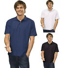 6 CLASSIC 100% COTTON MENS POLO SHIRTS S-XXXL FREE POST