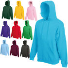 FRUIT OF THE LOOM HOODED TOP HOODIE 20 COLOURS S M L XL XXL