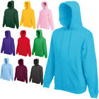 FRUIT OF THE LOOM PULLOVER HOODED SWEATSHIRT HOODIE JUMPER SWEATER PULLOVER