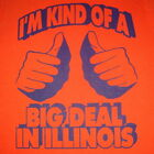 illinois funny vintage novelty college orange state tee mens chicago new t shirt