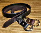 "Amish Made Genuine Leather 1 1/4"" Brown/ Black Belts  S M L XL 32-60 Men / Women"