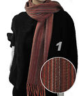 Striped Unisex Heavy 100% Wool Scarf (HWS5009)